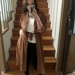 Lightweight Brown Trench Coat